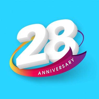 Anniversary emblems 28 anniversary template design