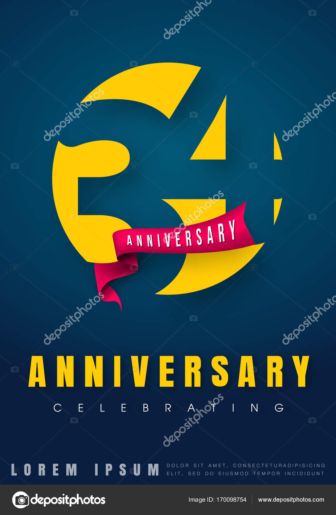 Verjaardag Emblemen 34 Verjaardag Sjabloonontwerp Creatieve Des