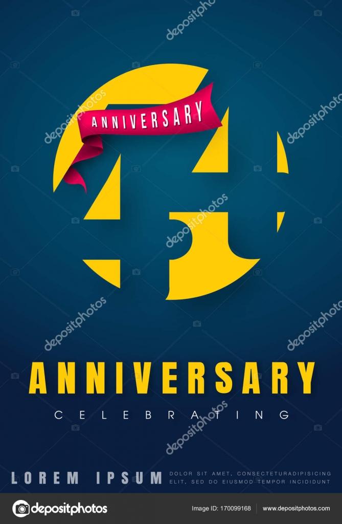 Verjaardag Emblemen 44 Verjaardag Sjabloonontwerp Creatieve Des