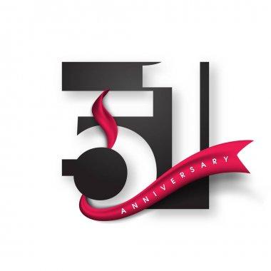 Anniversary emblems template design.