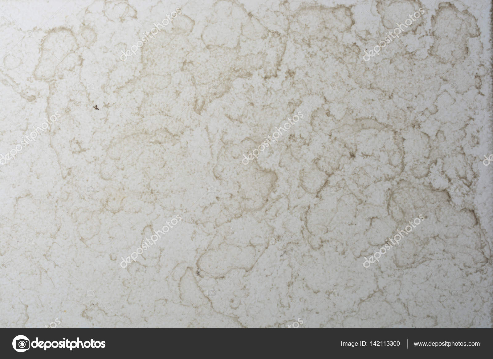 Close up of bathroom floor tile texture with water stain spot ...