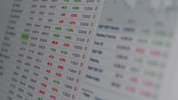 Stockbroker studies the financial market. Currency and securities quotes online