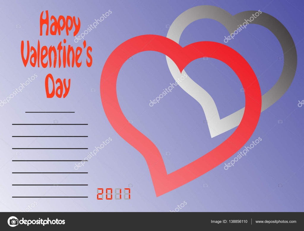 Happy valentines day two hearts and place for text clouds ribbon happy valentines day two hearts and place for text clouds ribbon heart arrow business cards flyers invitations greeting colourmoves