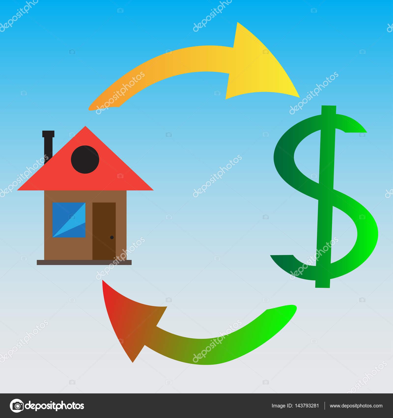 Immobilien, Häuser, Gebäude. Bizness Schema. Einfache Ausführung ...