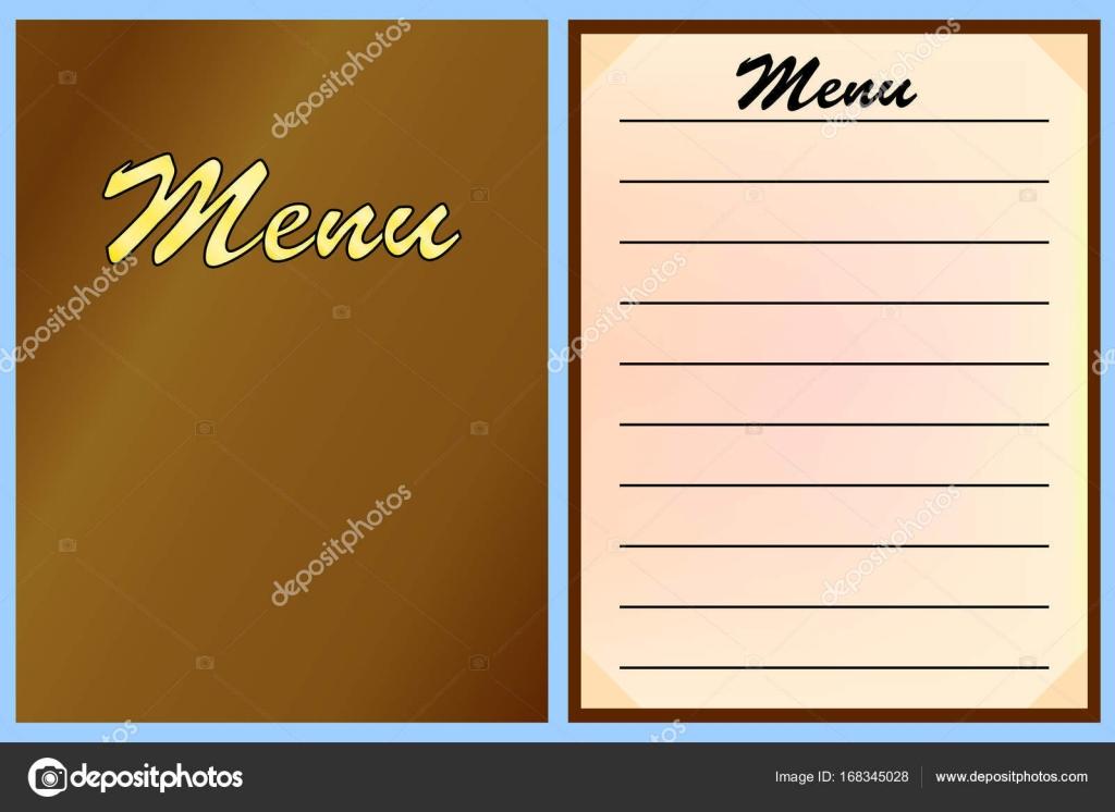 Menü-Vorlagen für das Restaurant, Café. Vektor — Stockvektor ...