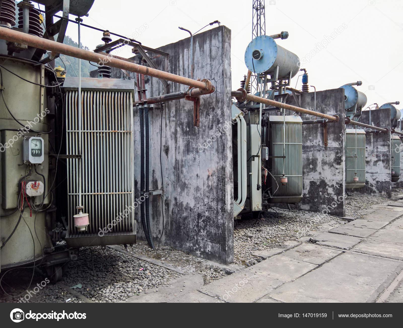 Power Transformer at power plant — Stock Photo © clinweaver