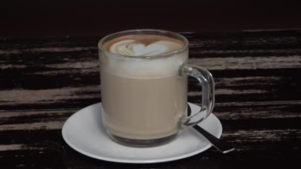 Latte on Table