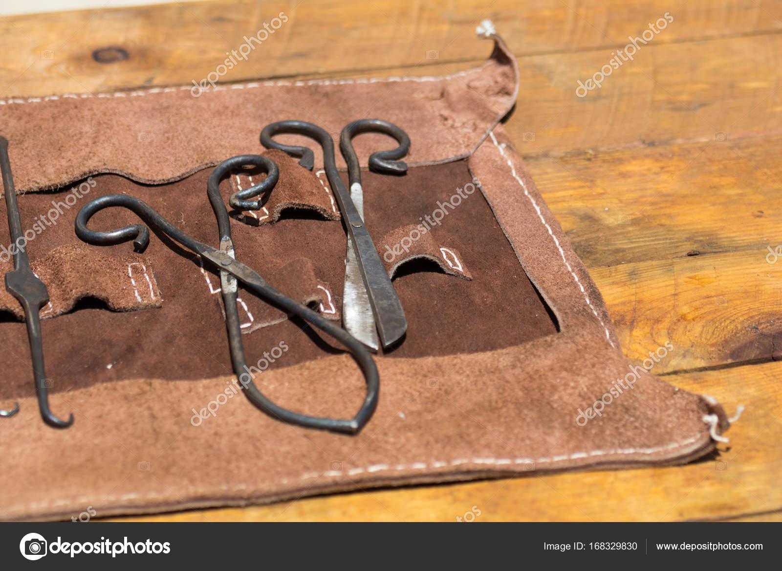 Old Medieval Surgery Doctors Tools Stock Photo