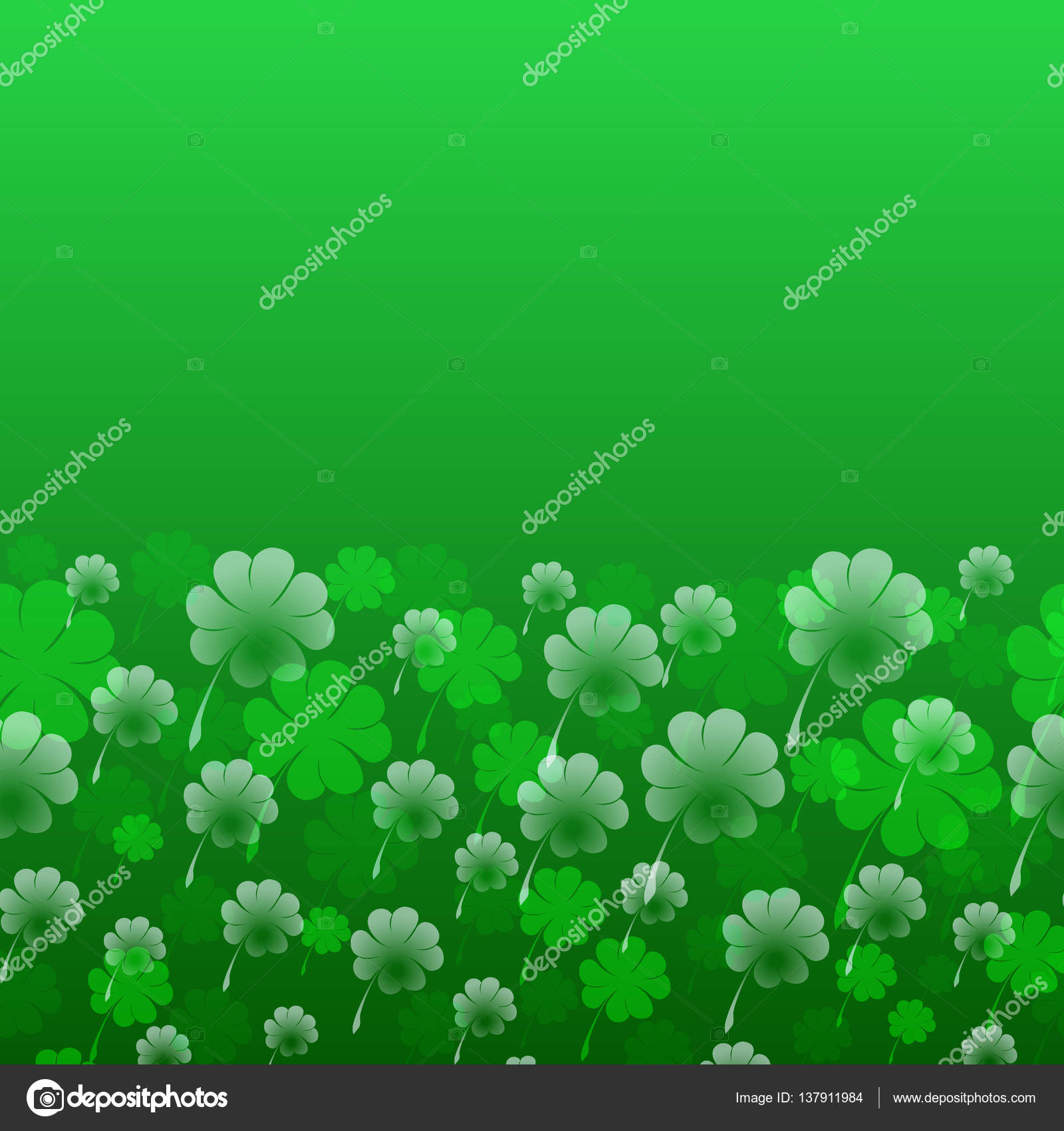 Abstract St Patrick S Day Vector Pattern Transparent Four Leaf