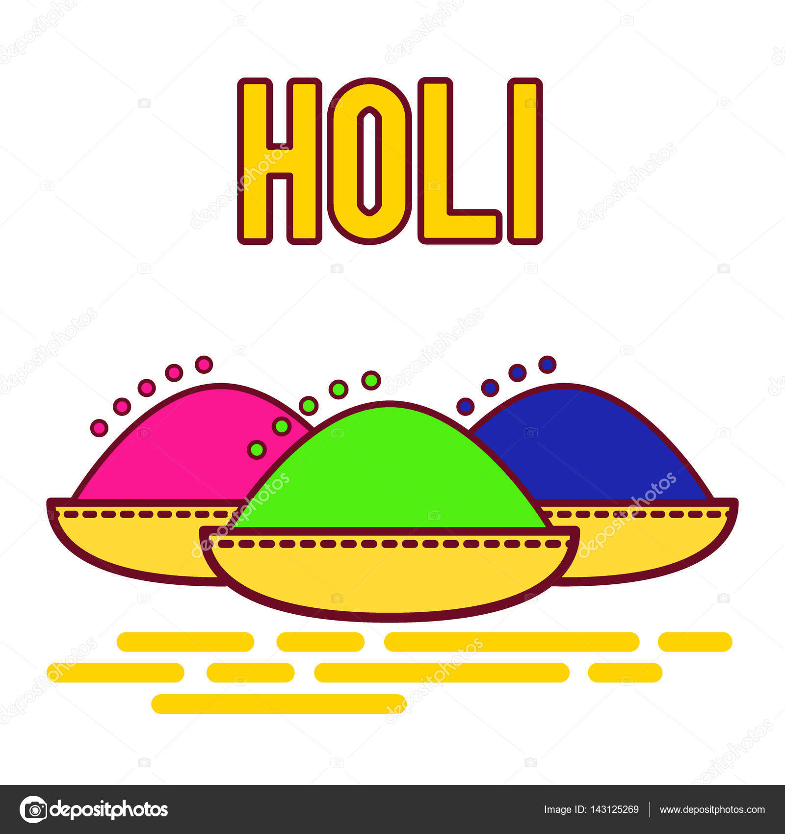 Holi Festival Of Spring And Bright Colors In India Traditional