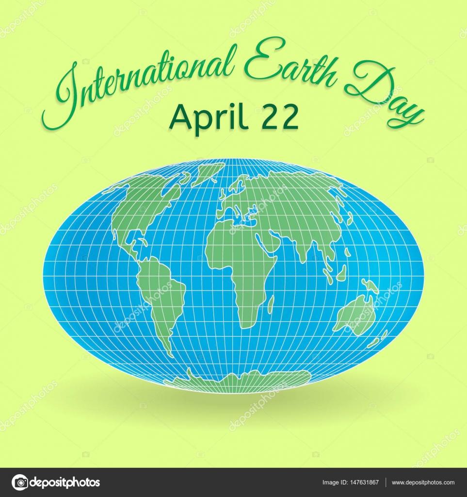 International Mother Earth Day Thema 3d Welt Oder Welt Karte Als