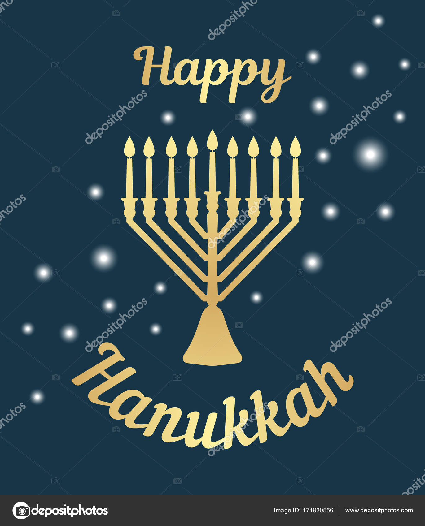 A Traditional Menorah For The Festival Of Jewish Chanukah Greeting