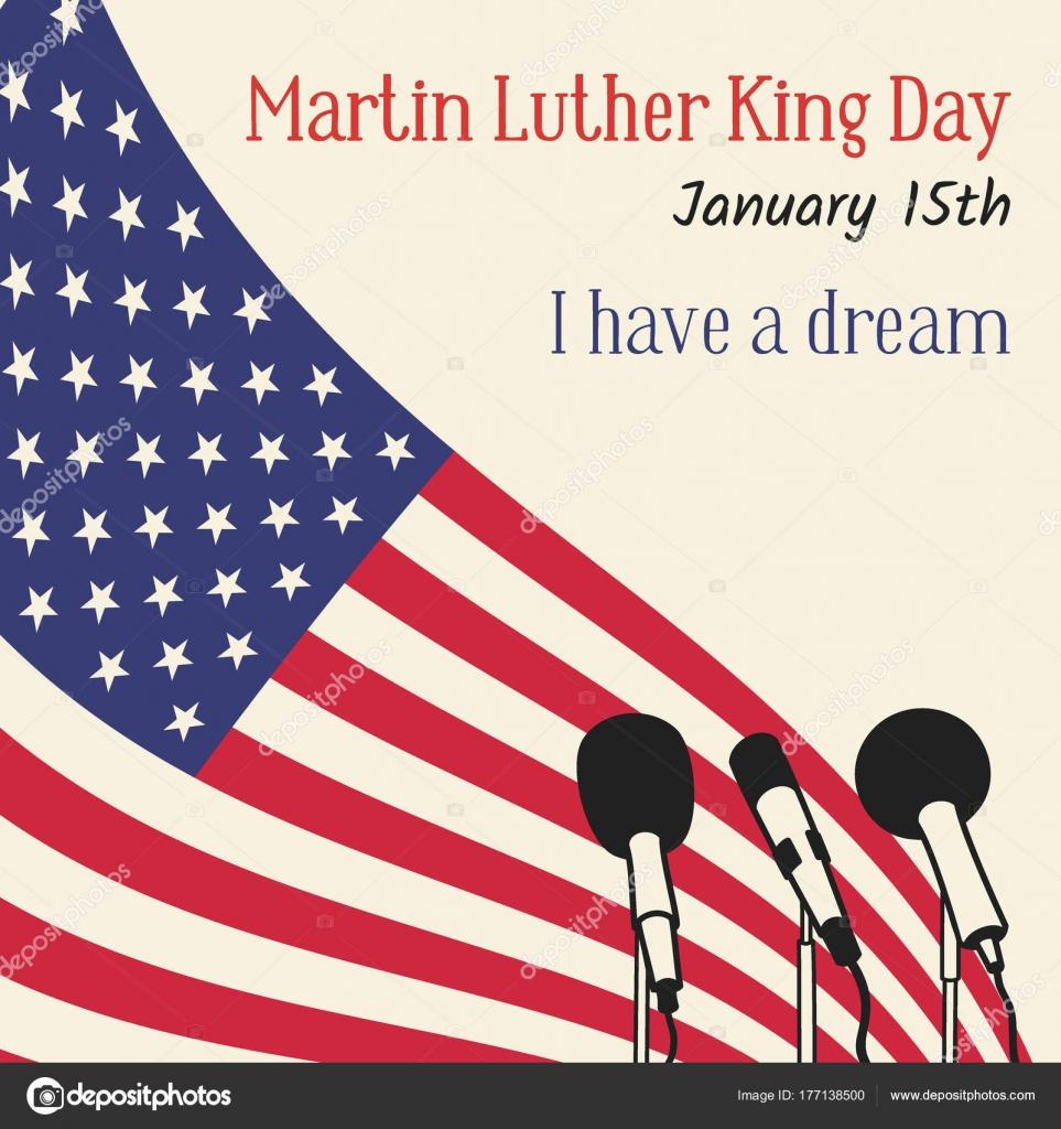 Dia De Martin Luther King Nos Eua Ilustração Vetorial Com Uma
