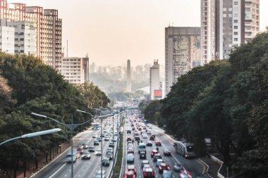 Avenue 23th of May (Avenida 23 de Maio) in Sao Paulo, Brazil