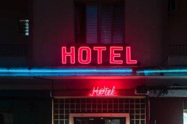 Hotel Sign near Paulista Avenue in Sao Paulo, Brazil