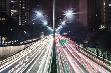Traffic at Avenue 23th of May (Avenida 23 de Maio) in San Paulo