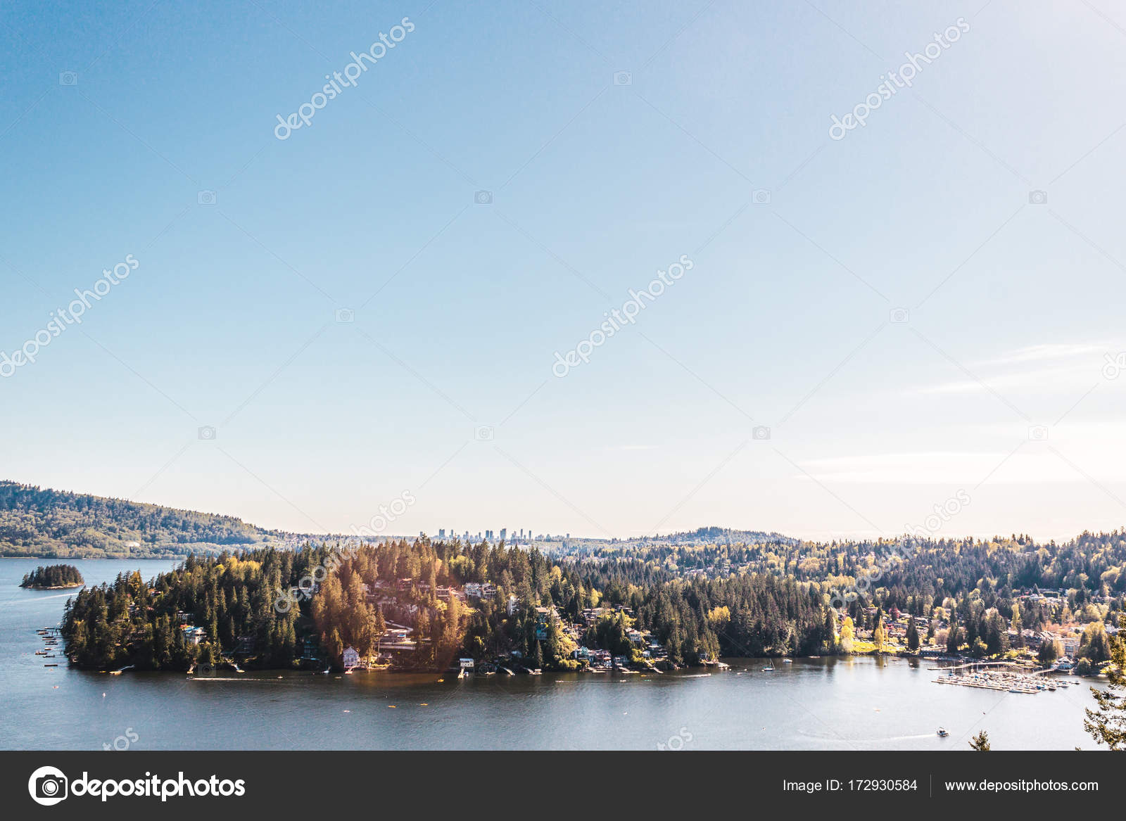 Deep Cove View From Quarry Rock At North Vancouver BC Canada Stock Photo