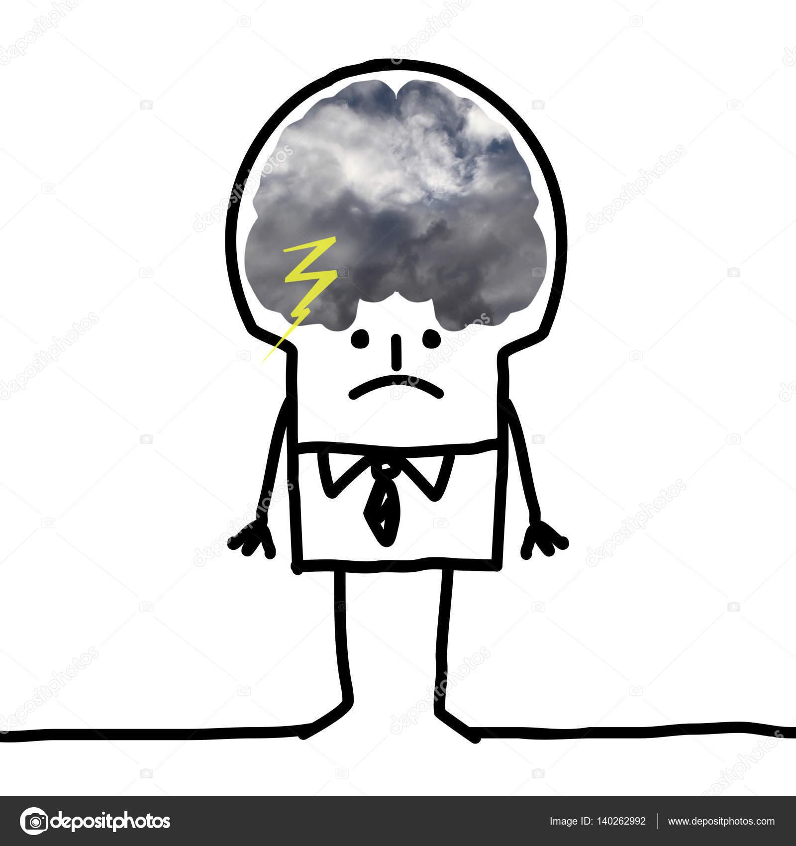 Cartoon big brain man pessimism and clouds stock photo nlshop cartoon big brain man pessimism and clouds photo by nlshop thecheapjerseys Gallery