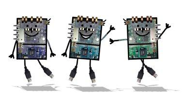 Cartoon robots- Funny electronics