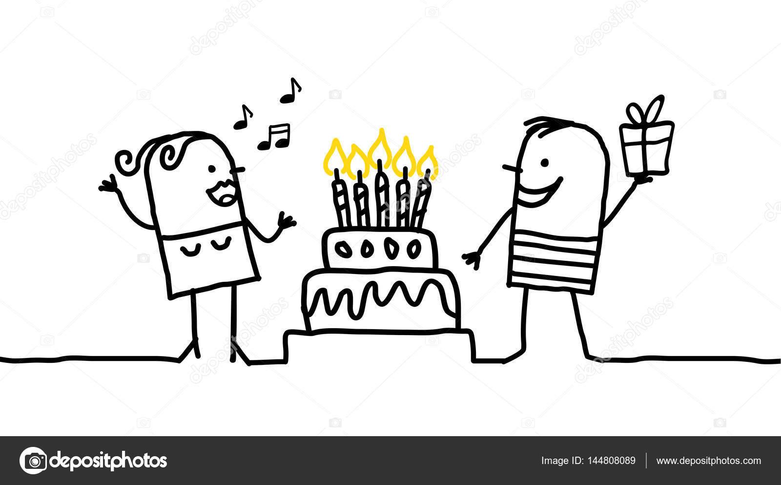 Comic Figuren Alles Gute Zum Geburtstag Stockfoto C Nlshop