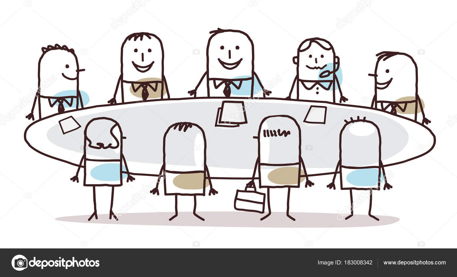 Dessin Anime Business Teamwork Autour D Une Table Image