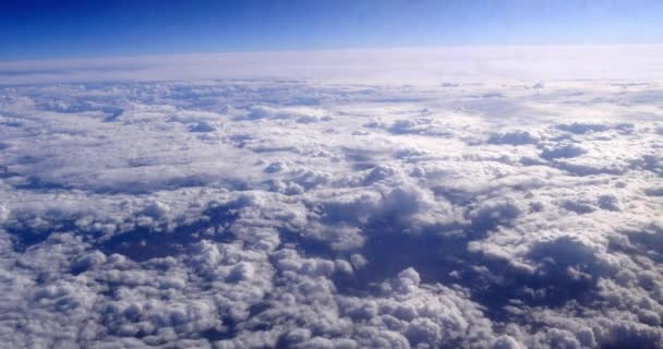 Blue Sky and Clouds from Plane, Real Time 4k