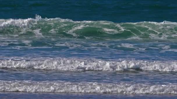 Waves, Beach at Courseulles sur Mer, Normandie, Slow Motion