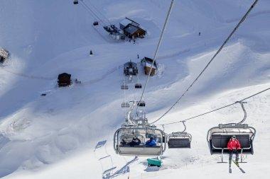 Ski lifts in Aibga cirque