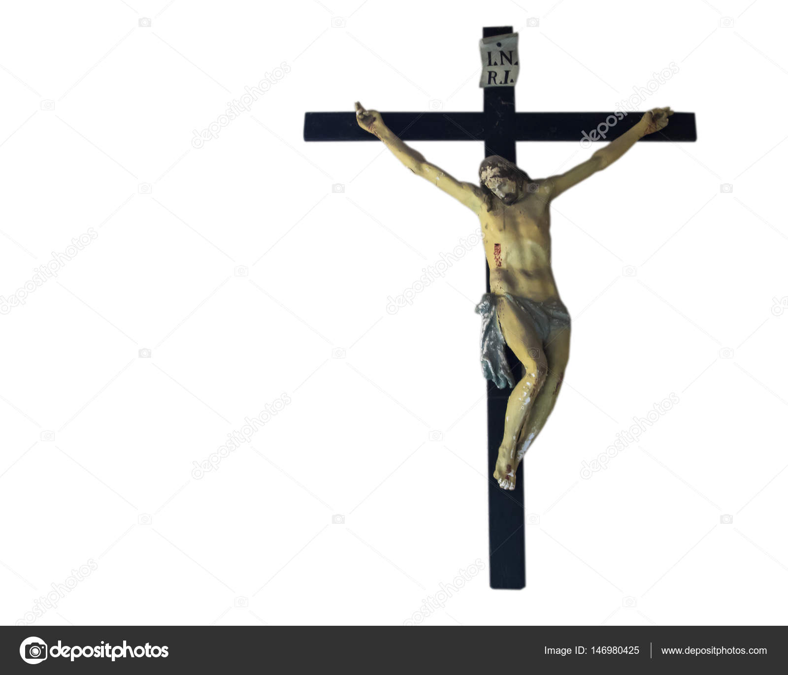 Jesus Christ Crucified Catholic Religion Symbol Stock Photo