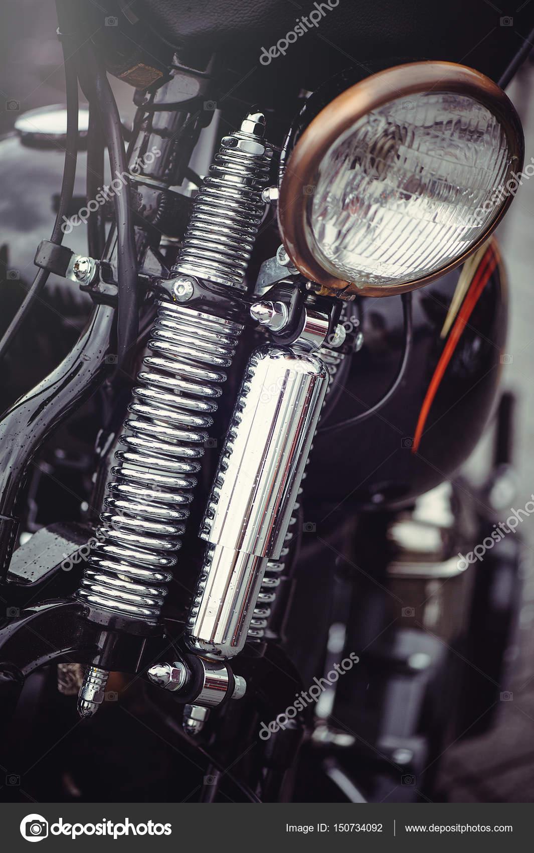 Chrome Classic Motorcycle Headlight Stock Photo C Lanarus Foto