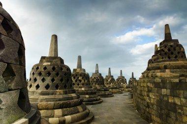 view of Borobudur temple, Yogyakarta, Java, Indonesia.