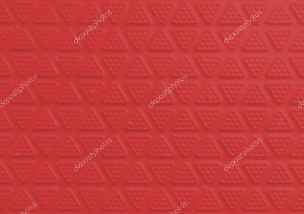 Red Sport Protection Rubber Floor Tiles For Texture And Background Stock Photo