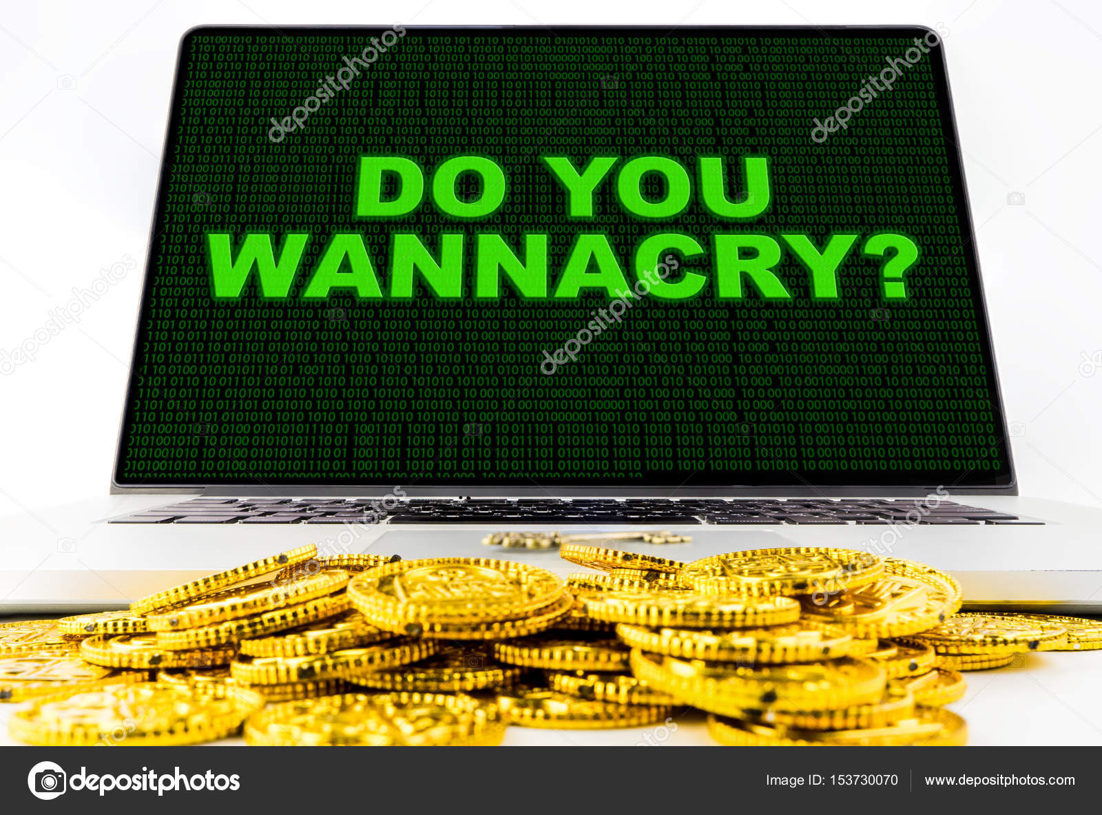 Do you wannacry? Ransomware warning on Computer Screen — Stock Photo