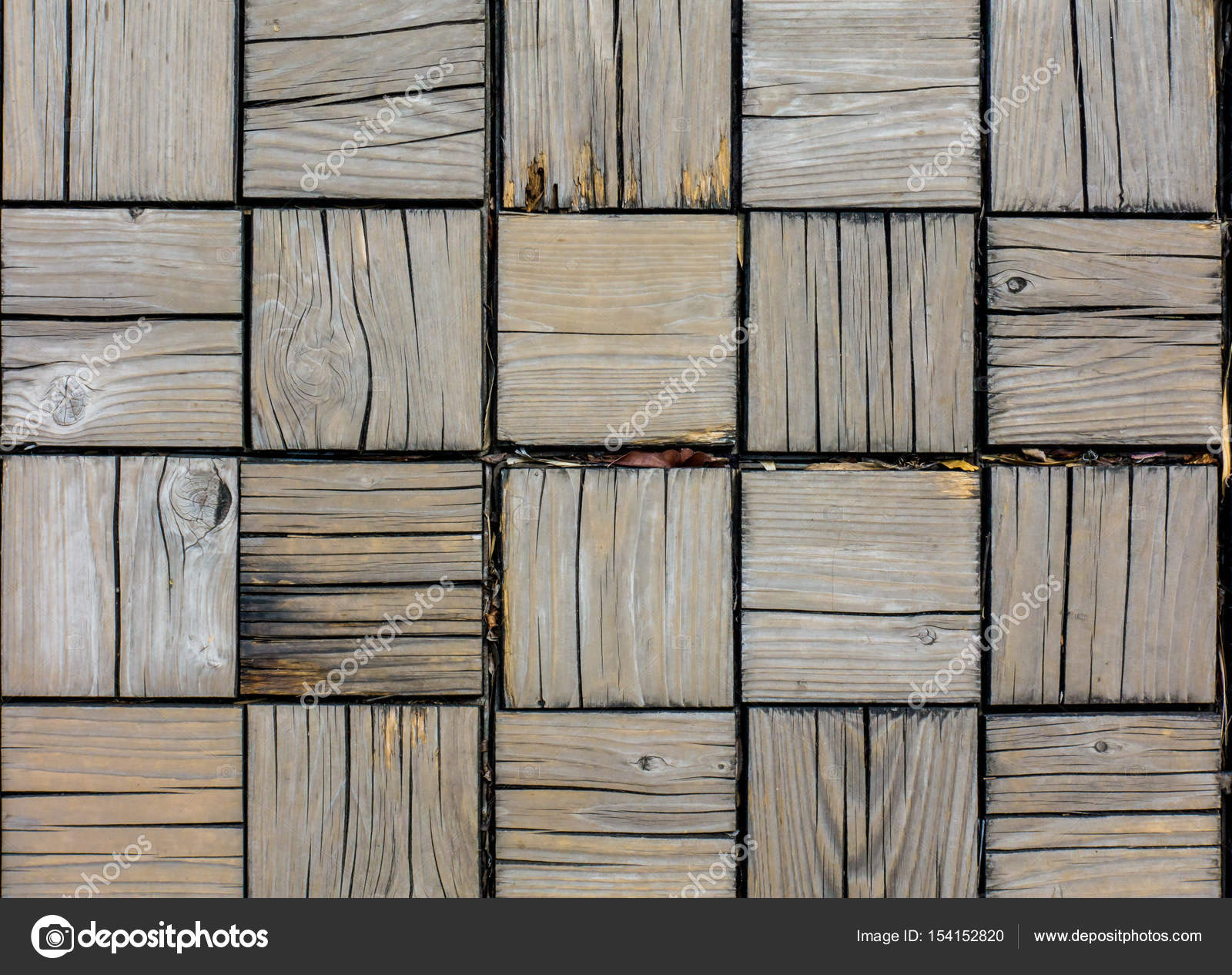 wooden block floor for texture and background stock photo