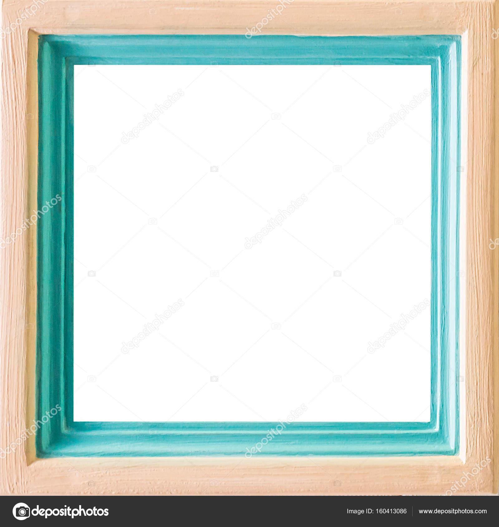 Holz und grün eingerahmt mit leeren Textfreiraum — Stockfoto ...