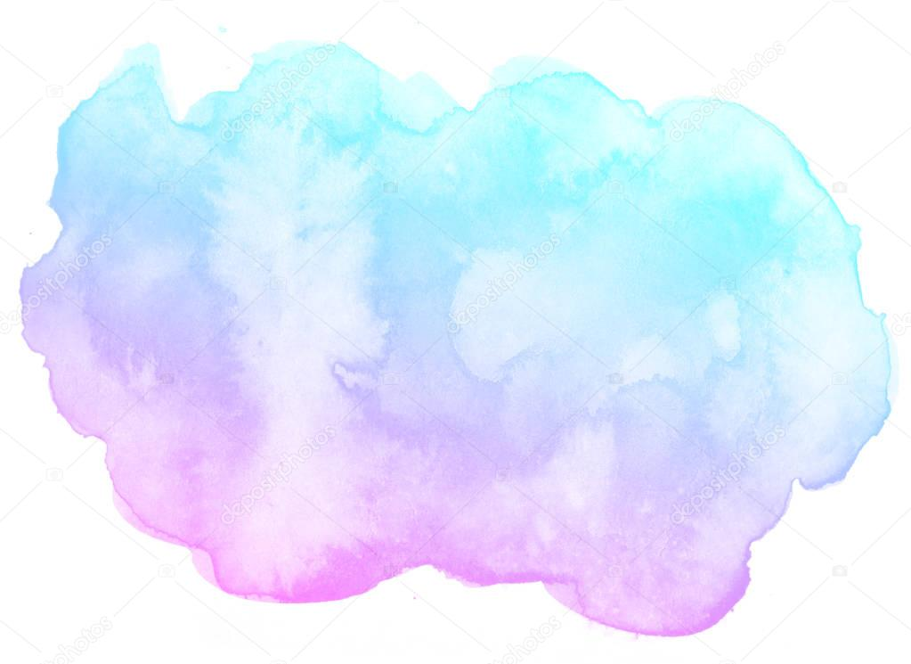 Abstract Pink Watercolor Background Stock Illustration