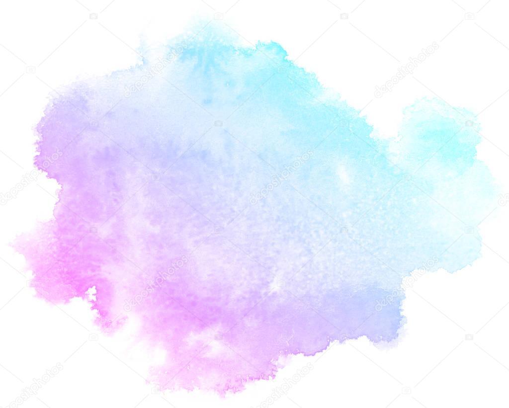 Абстрактный фон в розовых тонах акварель Стоковое фото