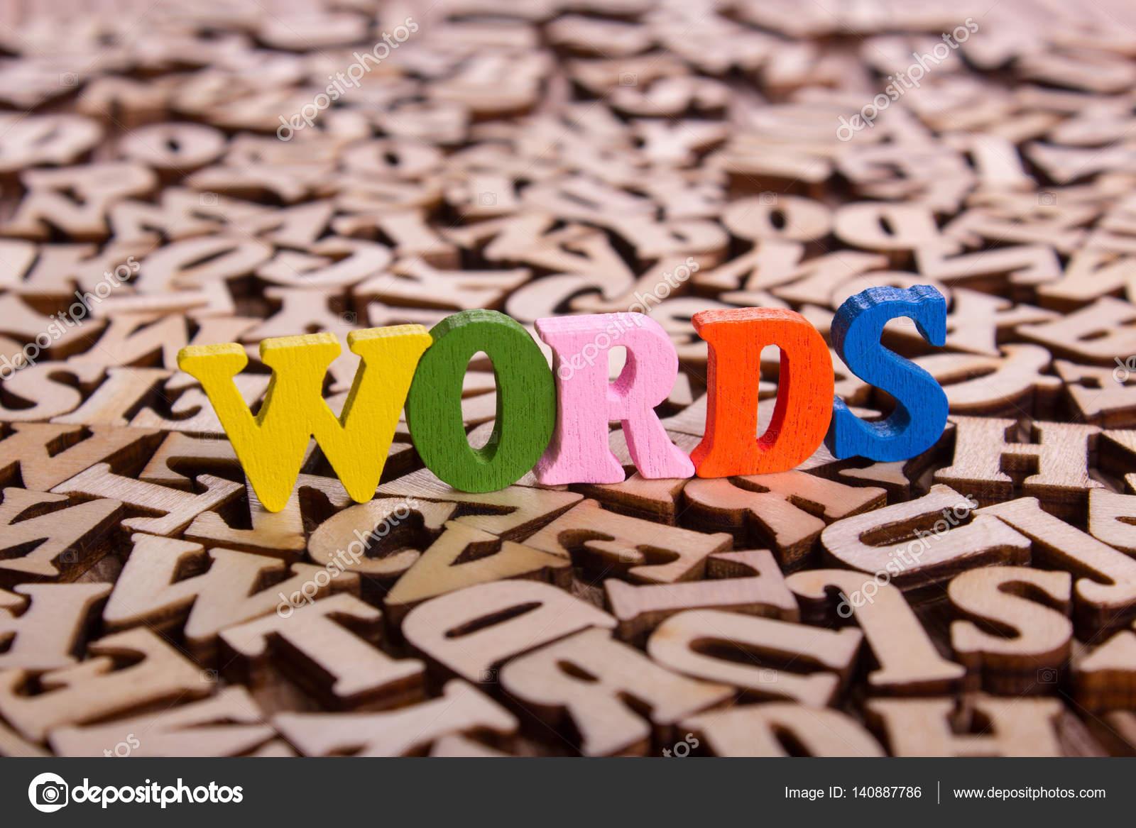 Lettere Di Legno Colorate : Parole parola fatta delle lettere di legno u foto stock adragan