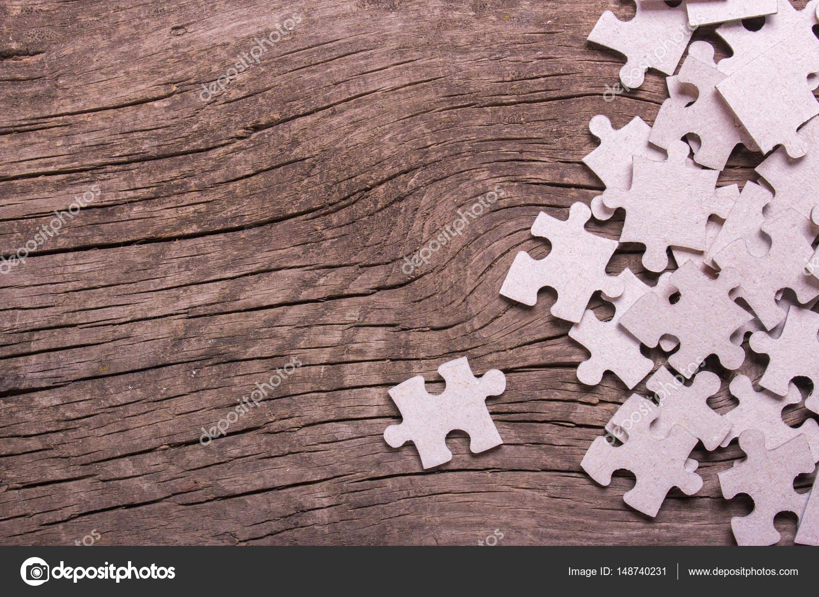 Piezas del puzzle con espacio vacío para el texto — Foto de stock ...