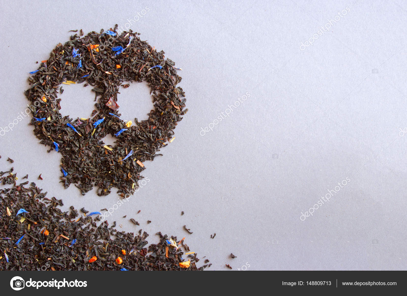 Skull symbol of tea poor tea kills stock photo adragan 148809713 skull symbol of tea poor tea kills empty space for text photo by adragan buycottarizona Images