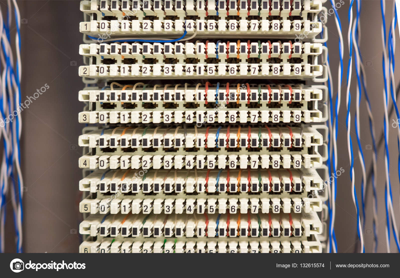 telephone switchboard panel and wires stock photo rh depositphotos com