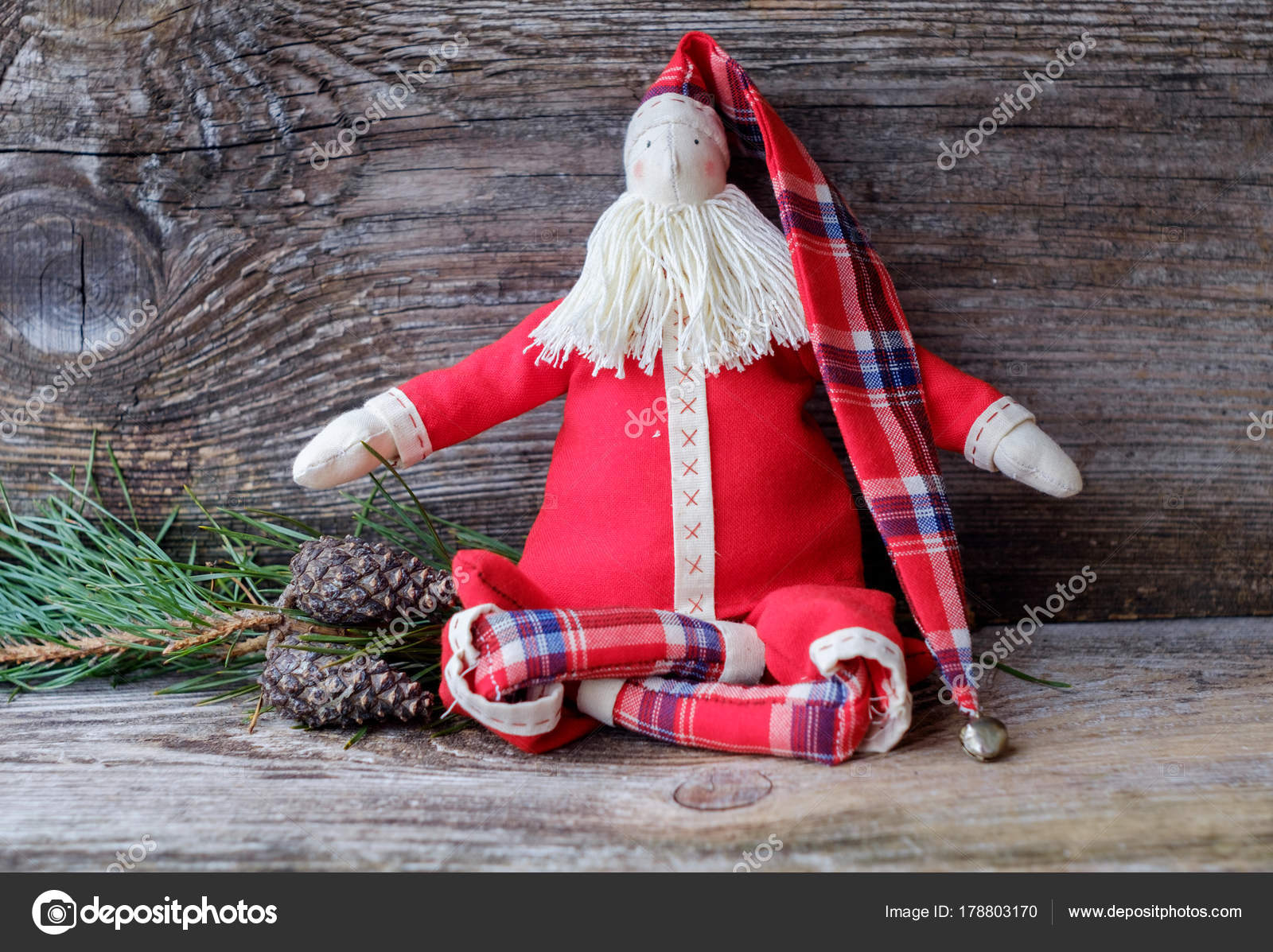 Posizione Babbo Natale.Fatto A Mano Bambola Babbo Natale Seduto Nella Posizione Del Loto