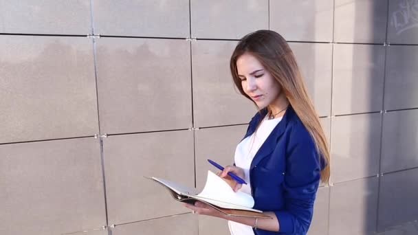 Female Business Student Write Down Notes Beautiful
