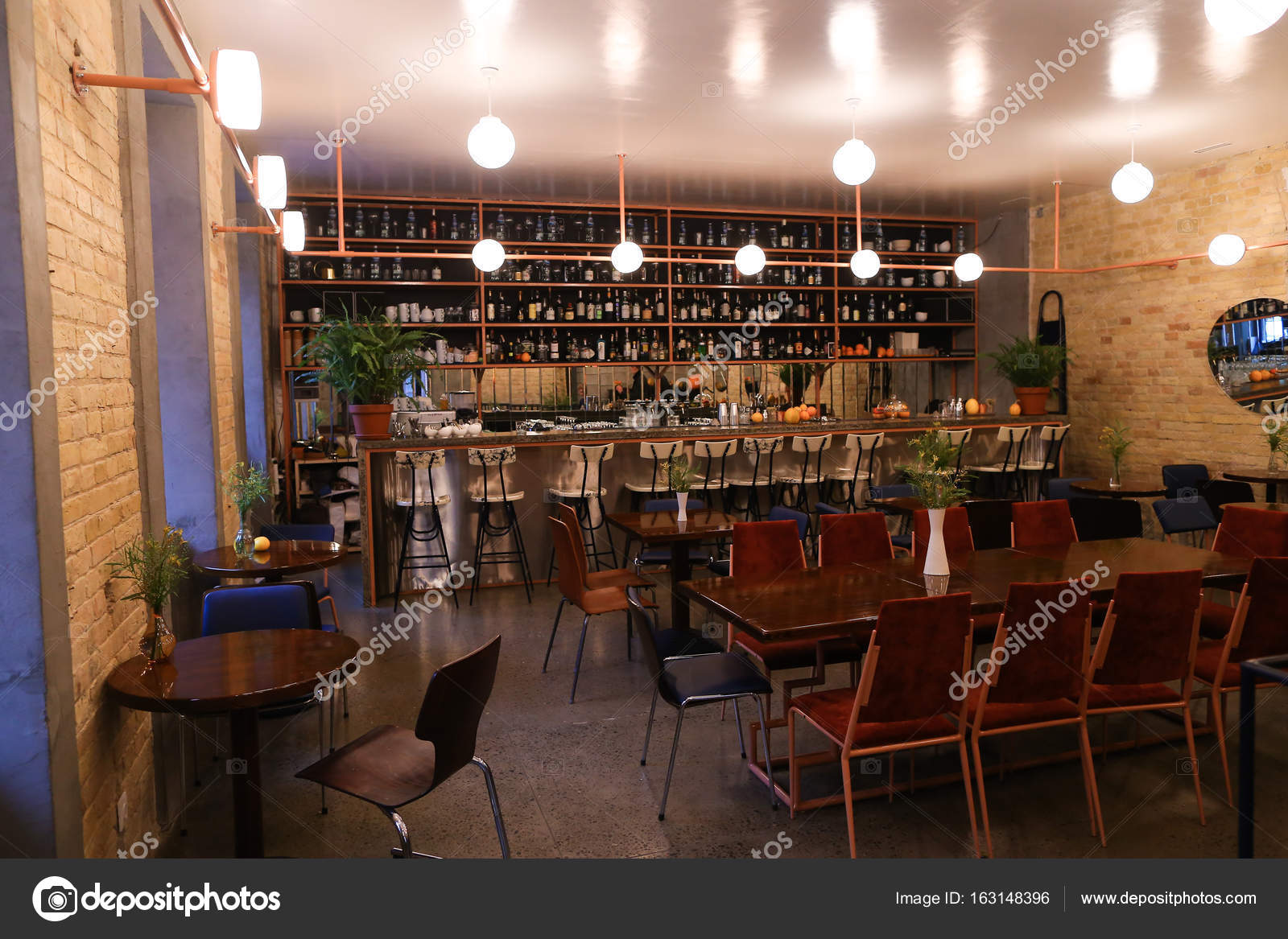 Restaurant Bar Decor Ideas Capture Design Ideas Trendy Cafe Or Restaurant Because Bar Stock Photo C Sisterspro 163148396
