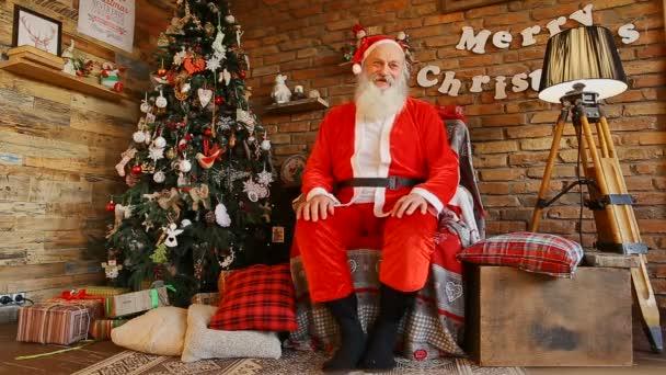 Santa Claus fotografoval pro vánoční přání