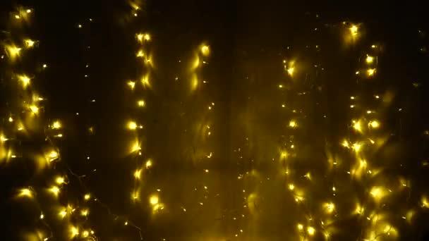 Girlanda kabel blikající žluté světlo věnec