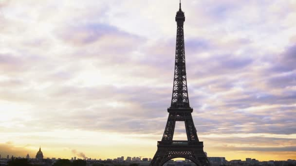Eiffel Tower with cloudscape background.