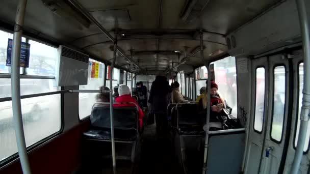 Régi szovjet kocsi belseje. Ukrajna Khmelnytskyi 30.11.2016