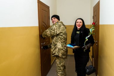 The servicemen of the Armed Forces of Ukraine, who participated