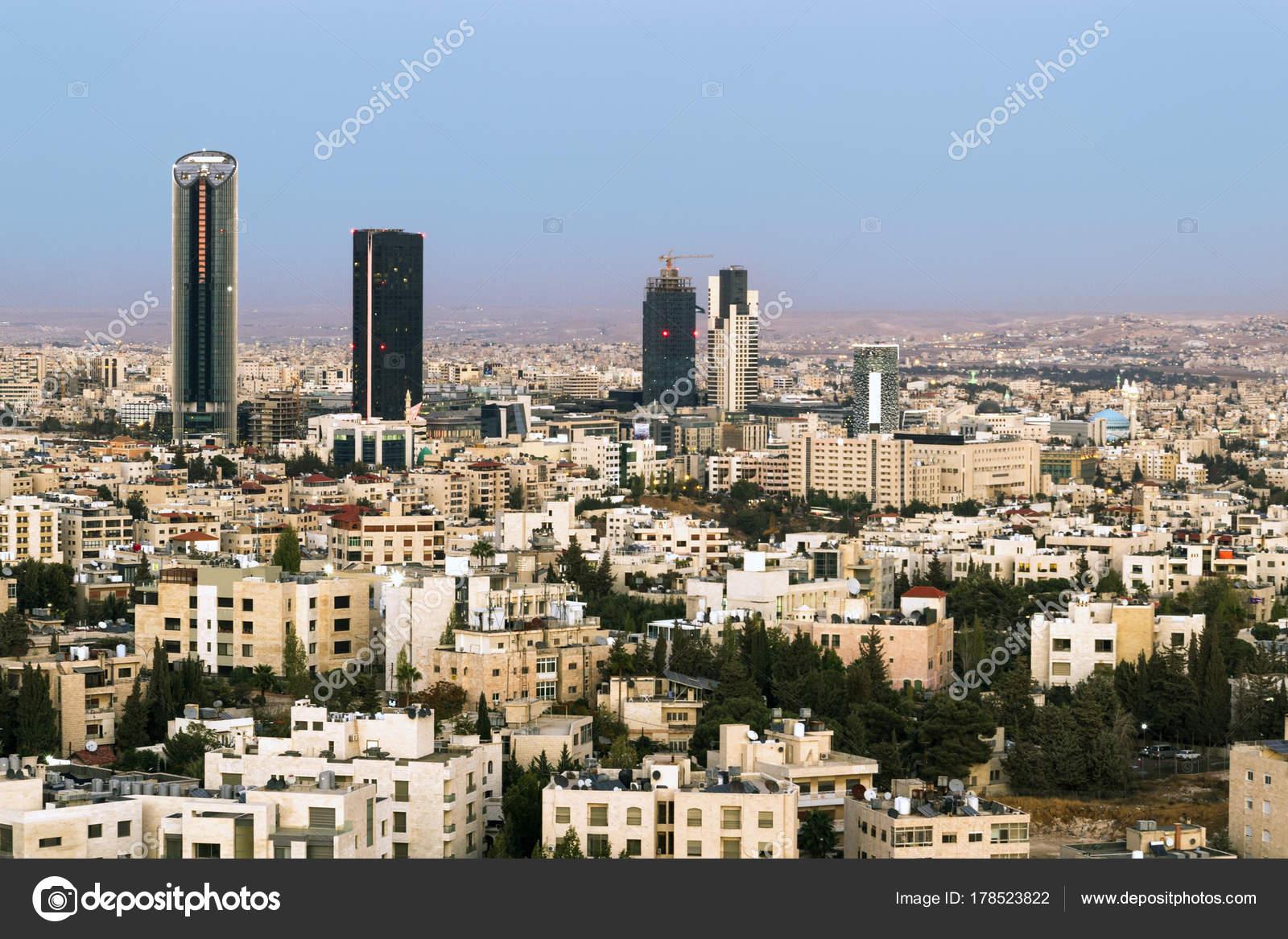 Amman Skyline After Sunset